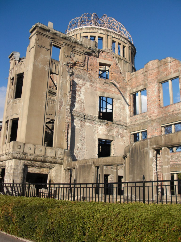 A somber reminder of the atomic bomb's devestation - the A-bomb dome in Hiroshima.