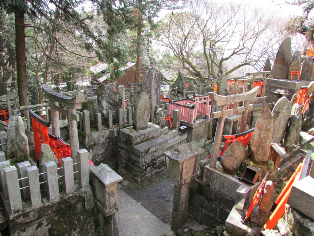 One of the many mysterious back corners of Fushimi Inari.