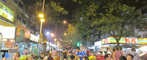 Nothing beats sitting outside of cheap plastic furniture, drinking beer and eating delicious food — at Jalan Alor