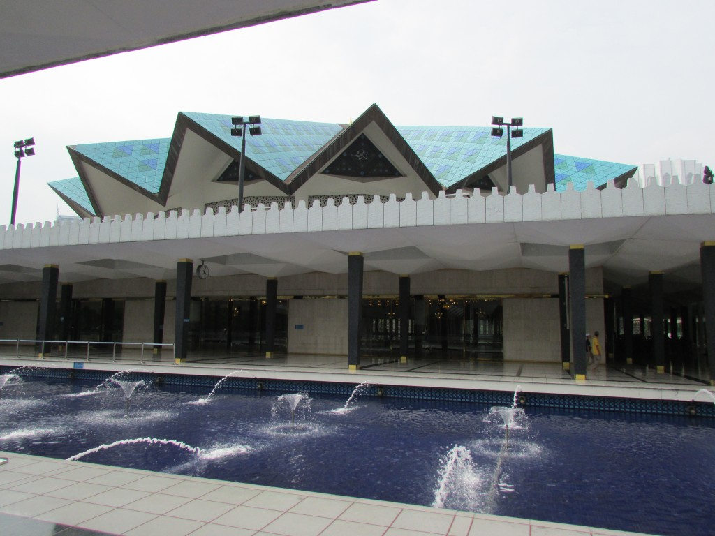 Masjid Negara, Malaysia's National Mosque, with it's many pools and gardens.