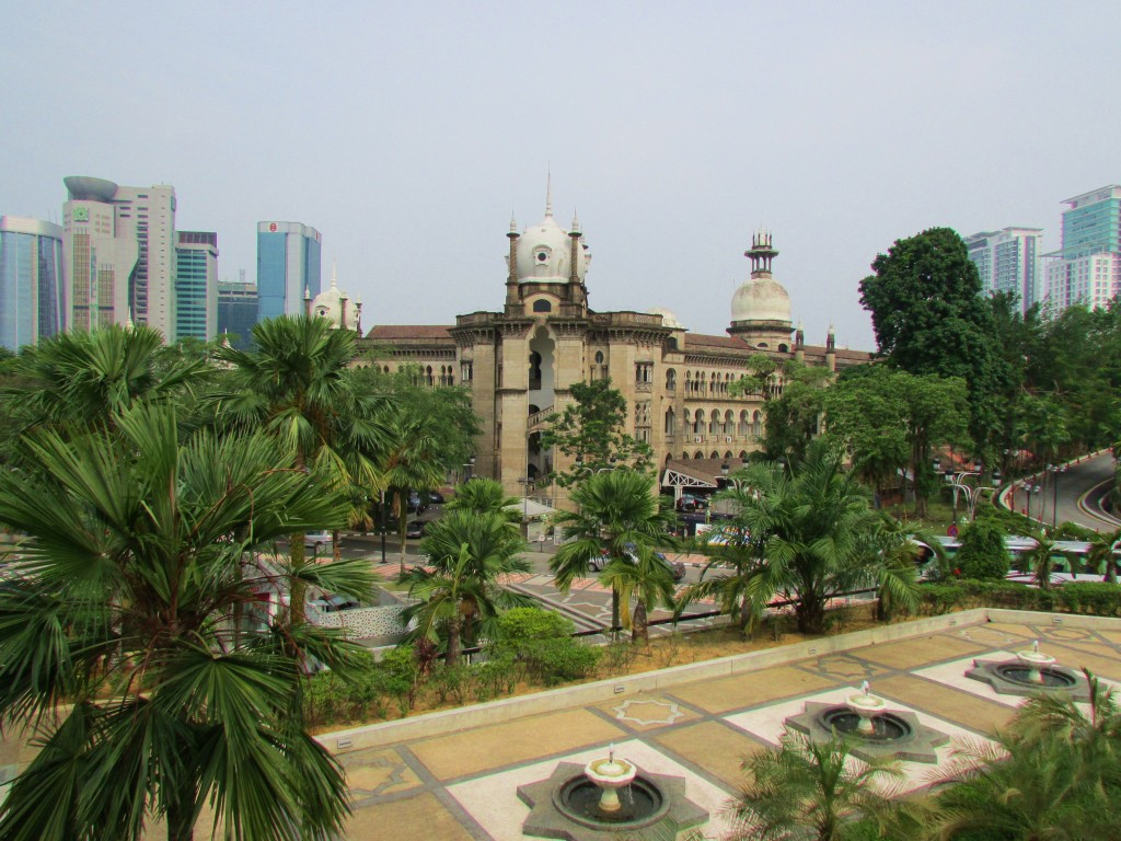 The view from Malaysia's National Mosque.