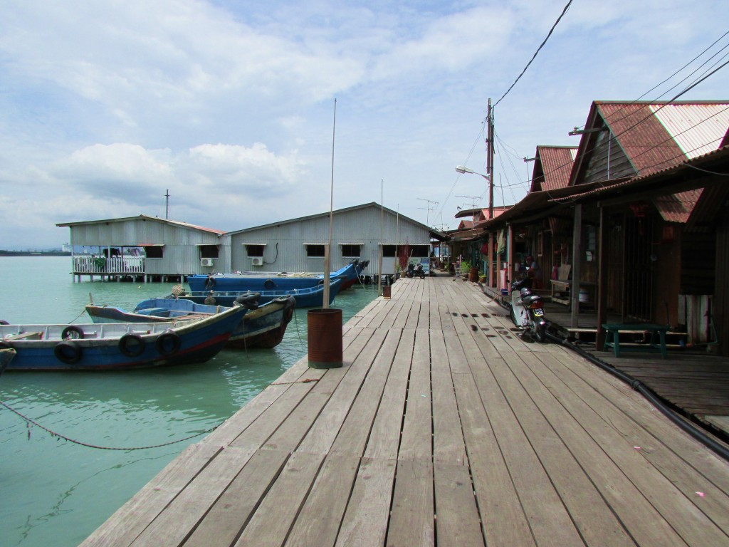 The boating area of the Chew Jetty -- the largest clan jetty in Penang.