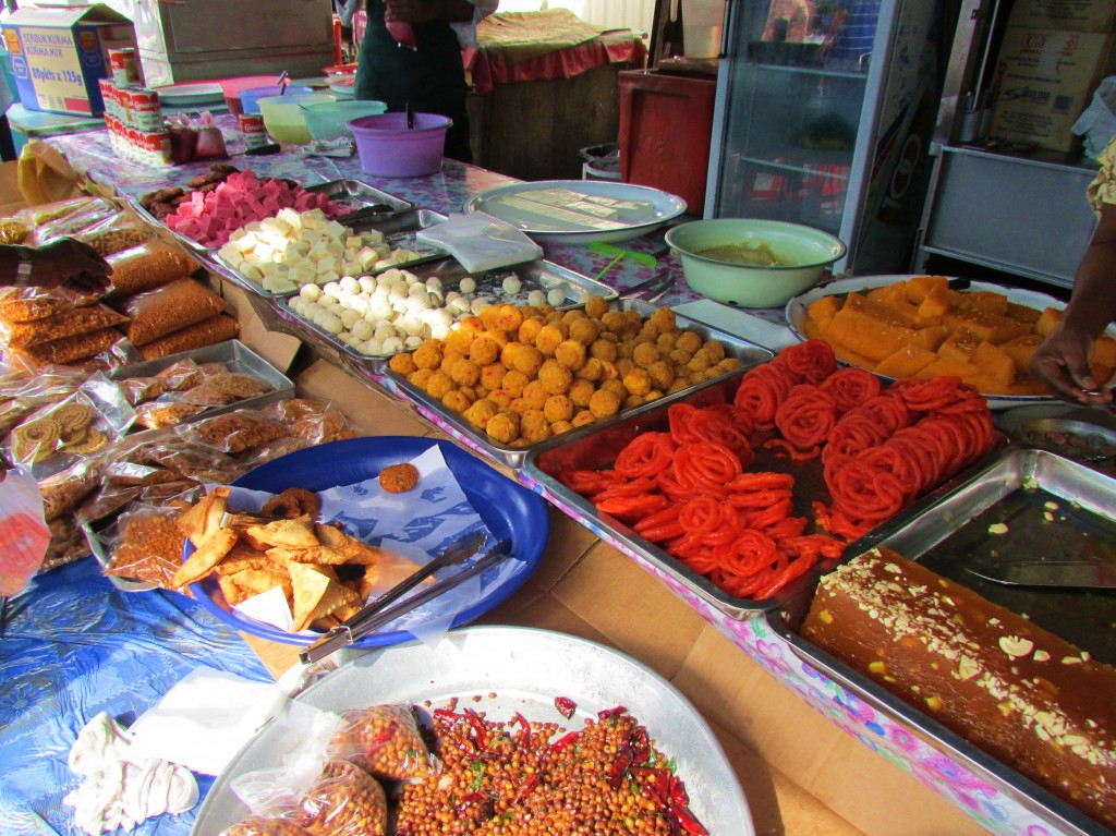 Indian sweets and snacks on sale in Little India in Georgetown, Penang.
