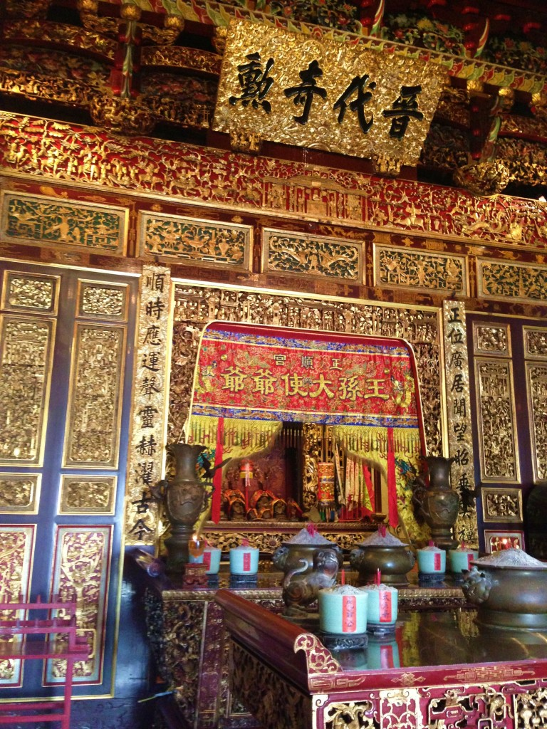 Inside of the Leong San Tong Khoo Kongsi temple in Georgetown, Penang.
