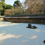 The hidden stone — Ryoanji zen rock garden
