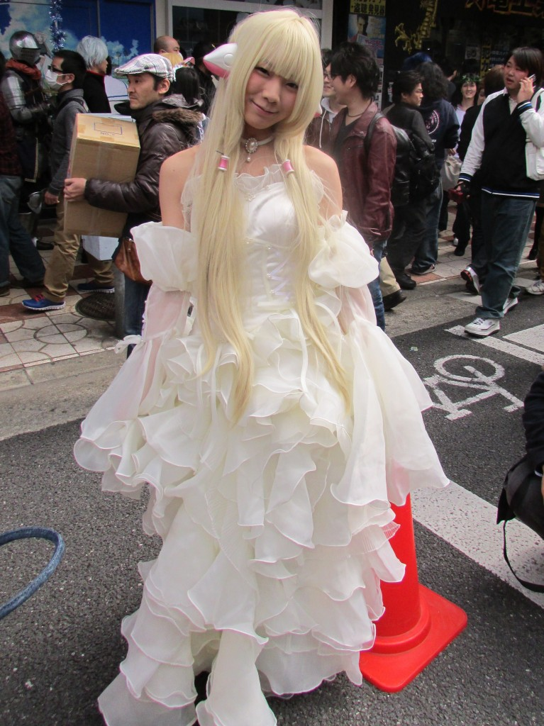 A woman in cosplay at last year's festival.