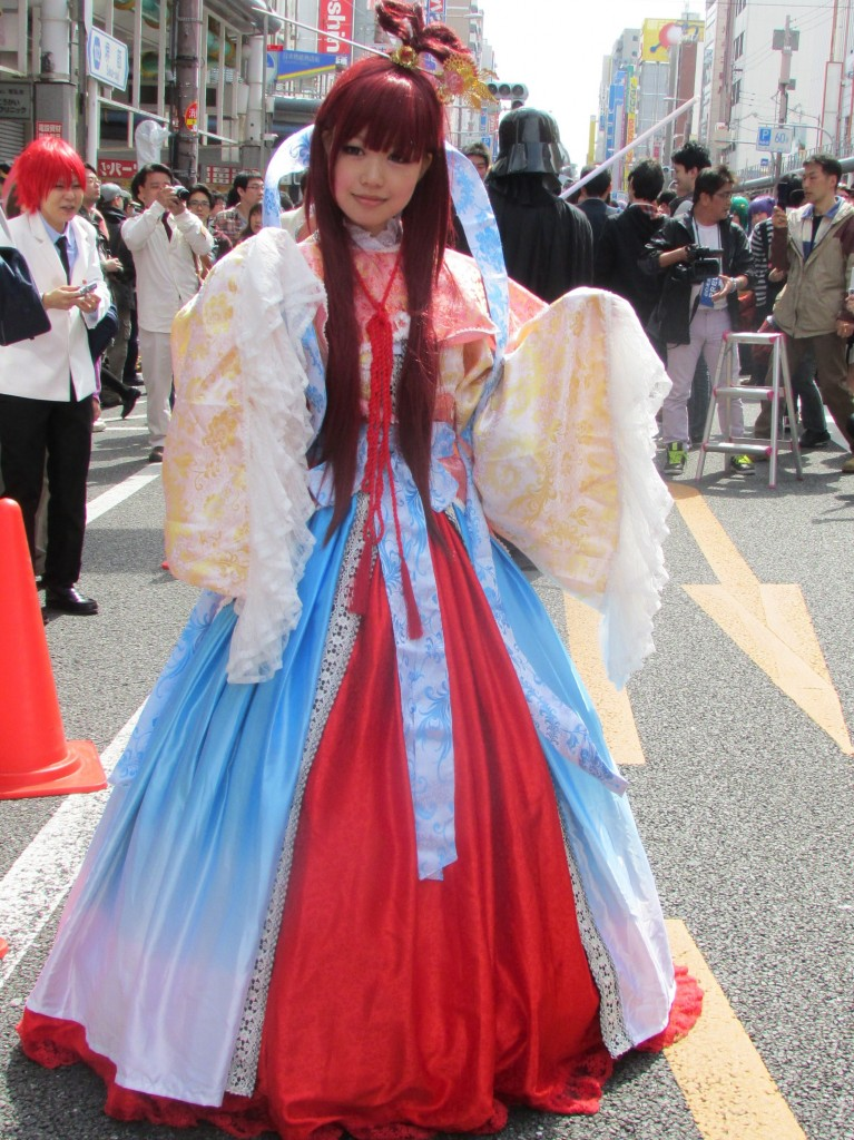 A very elaborate cosplay outfit.
